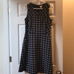 J. Crew blue plaid dress
